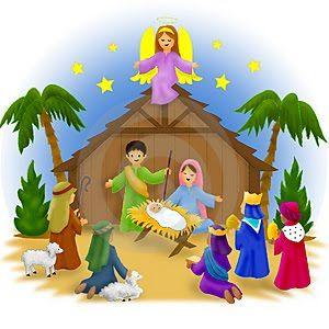 Black and White Nativity Sketch   Nativity Clipart