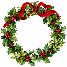 Christmas clipart old fashioned. Vintage flower holly and