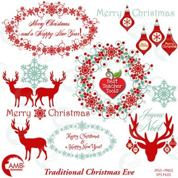 Clipart reindeer merry christmas reindeer. Old fashioned ornaments amb