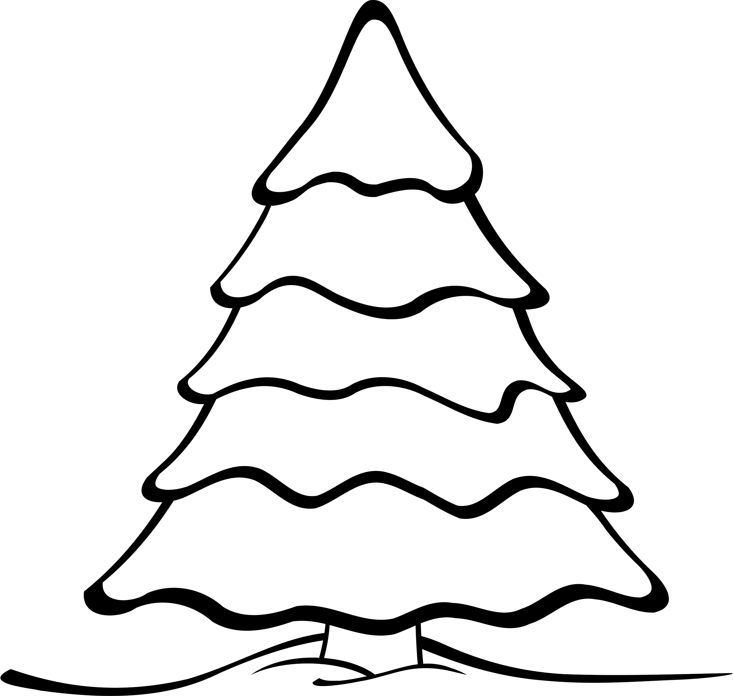 Cool clipart christmas. Tree outline find craft