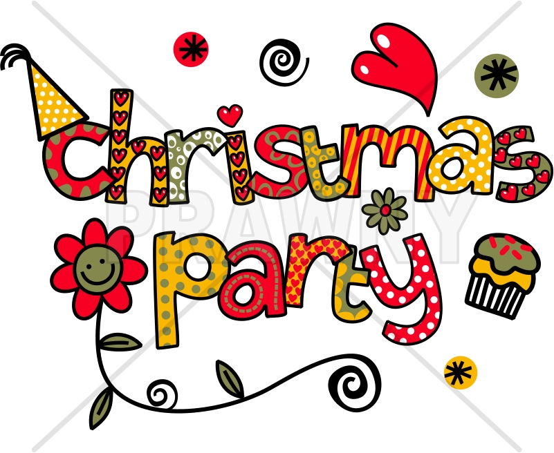 Party doodle text clip. 2016 clipart christmas