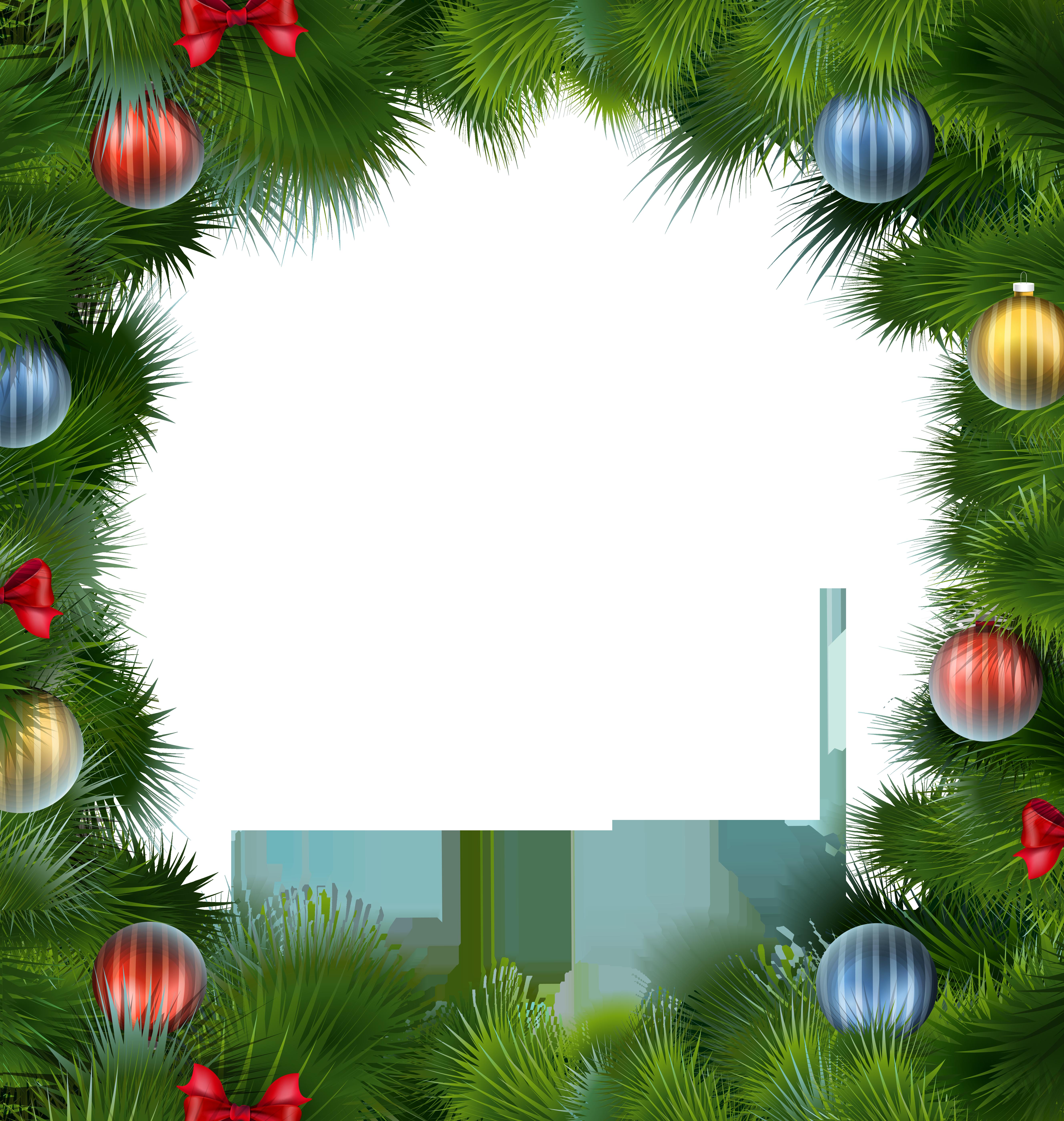 Frames clipart xmas. Christmas deco frame with
