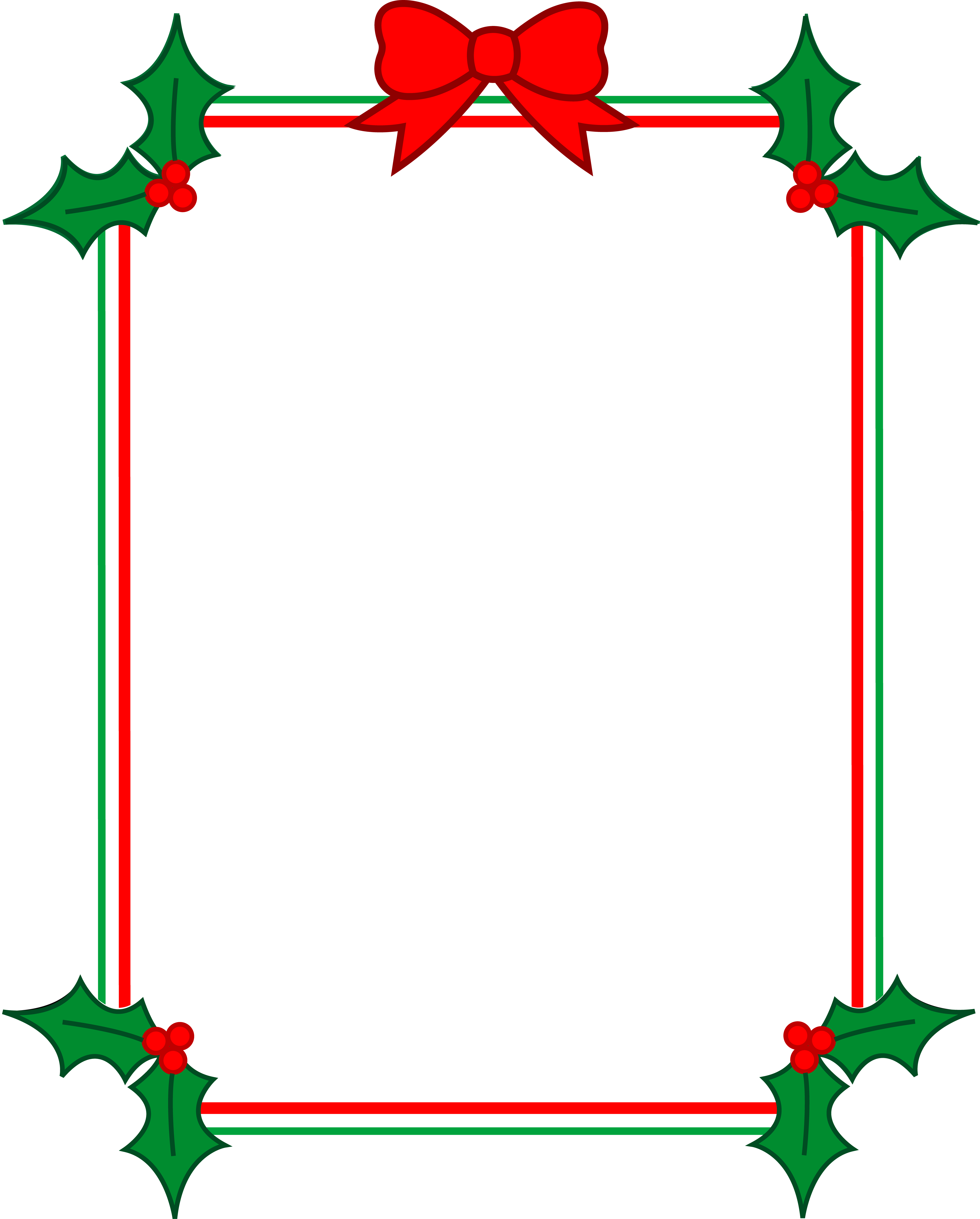 Clip art borders free. Christmas holly border png