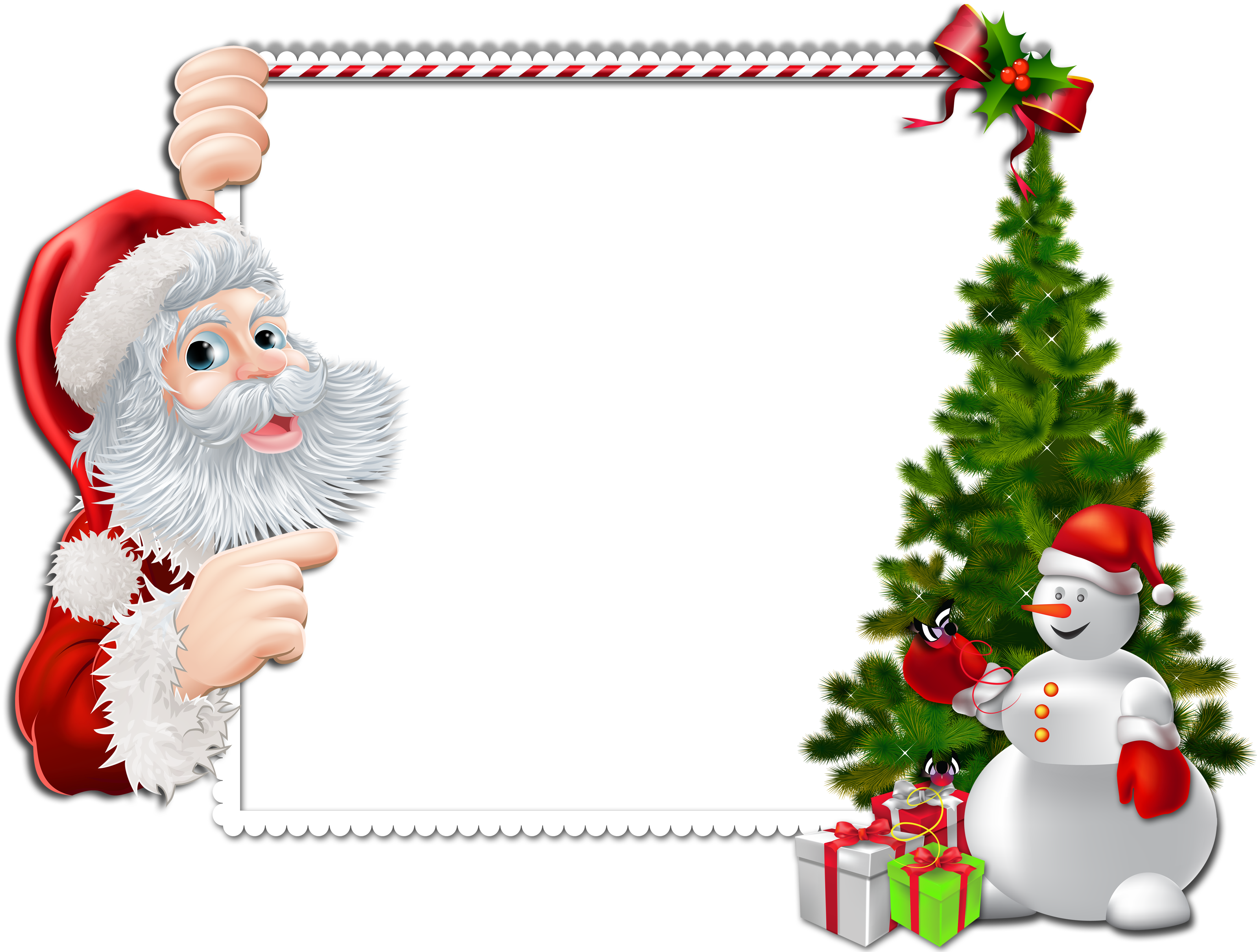 Frame clipart xmas. Large christmas png with