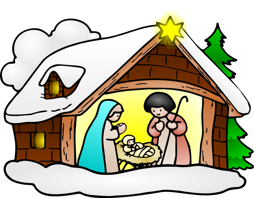 Nativity clipart advent. Free sacred christmas cliparts