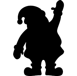 Silhouette clipart. Free clip art christmas