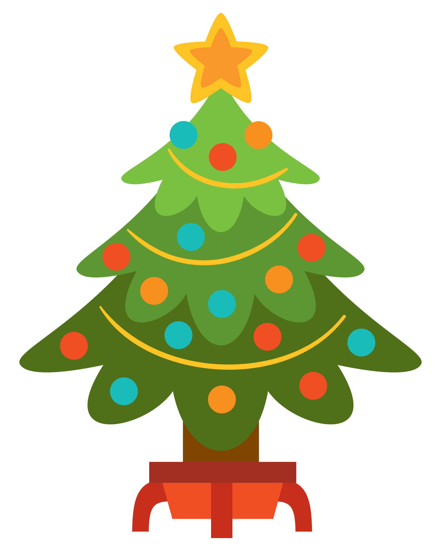 Library clipart christmas. Simple kid clipartix