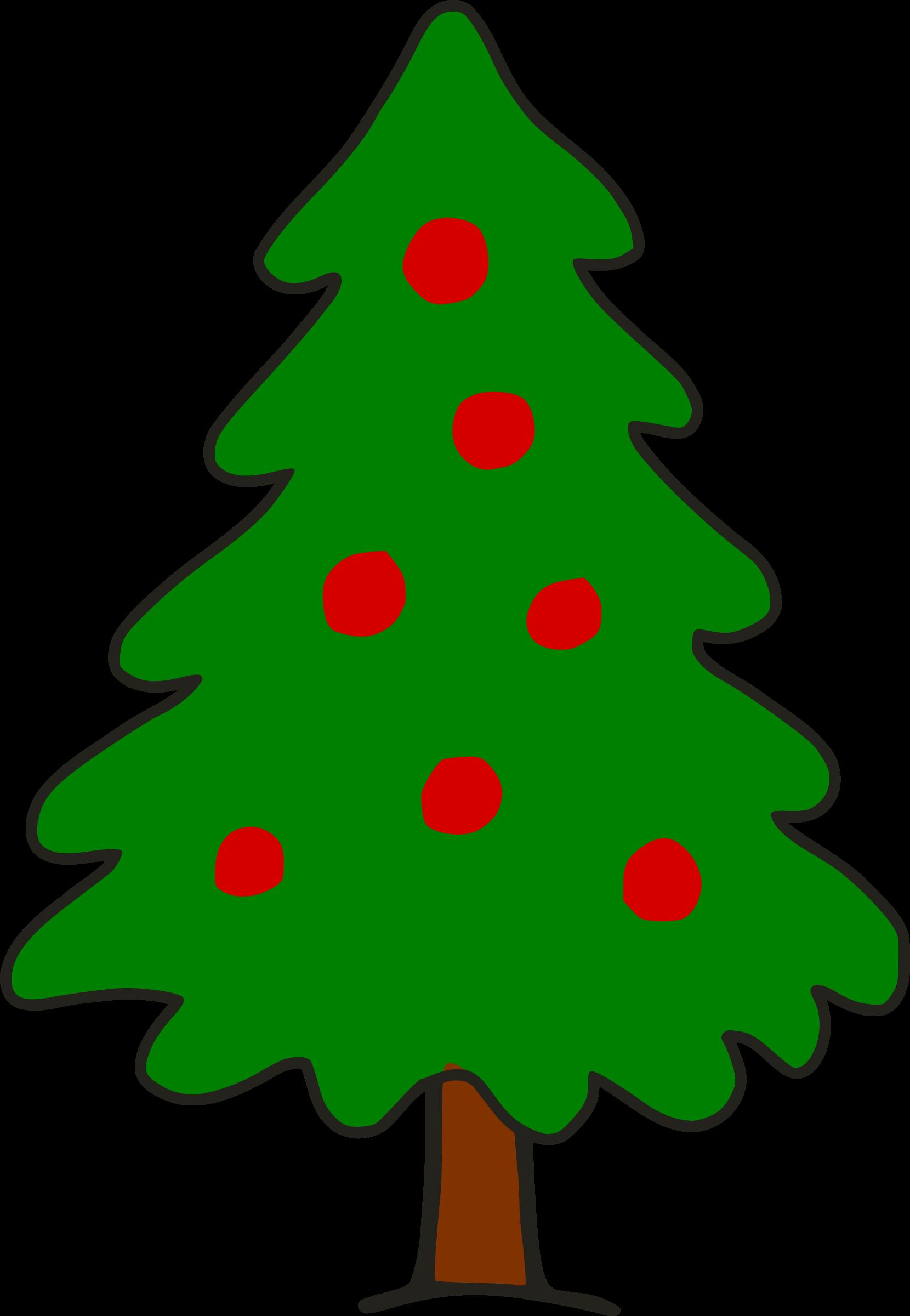 Simple christmas big image. Tree clipart shape