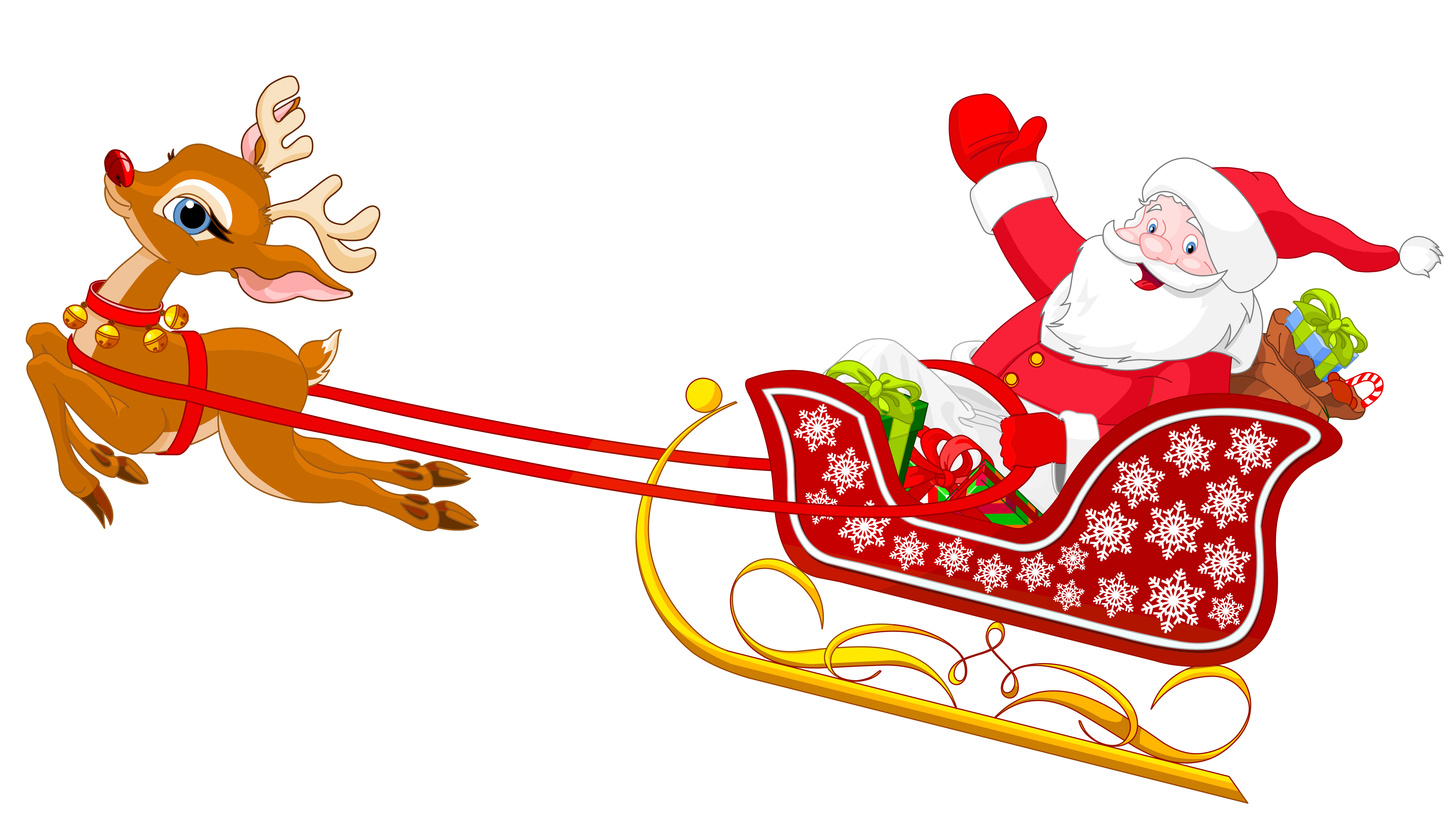 collection of sleigh. Clipart free santa
