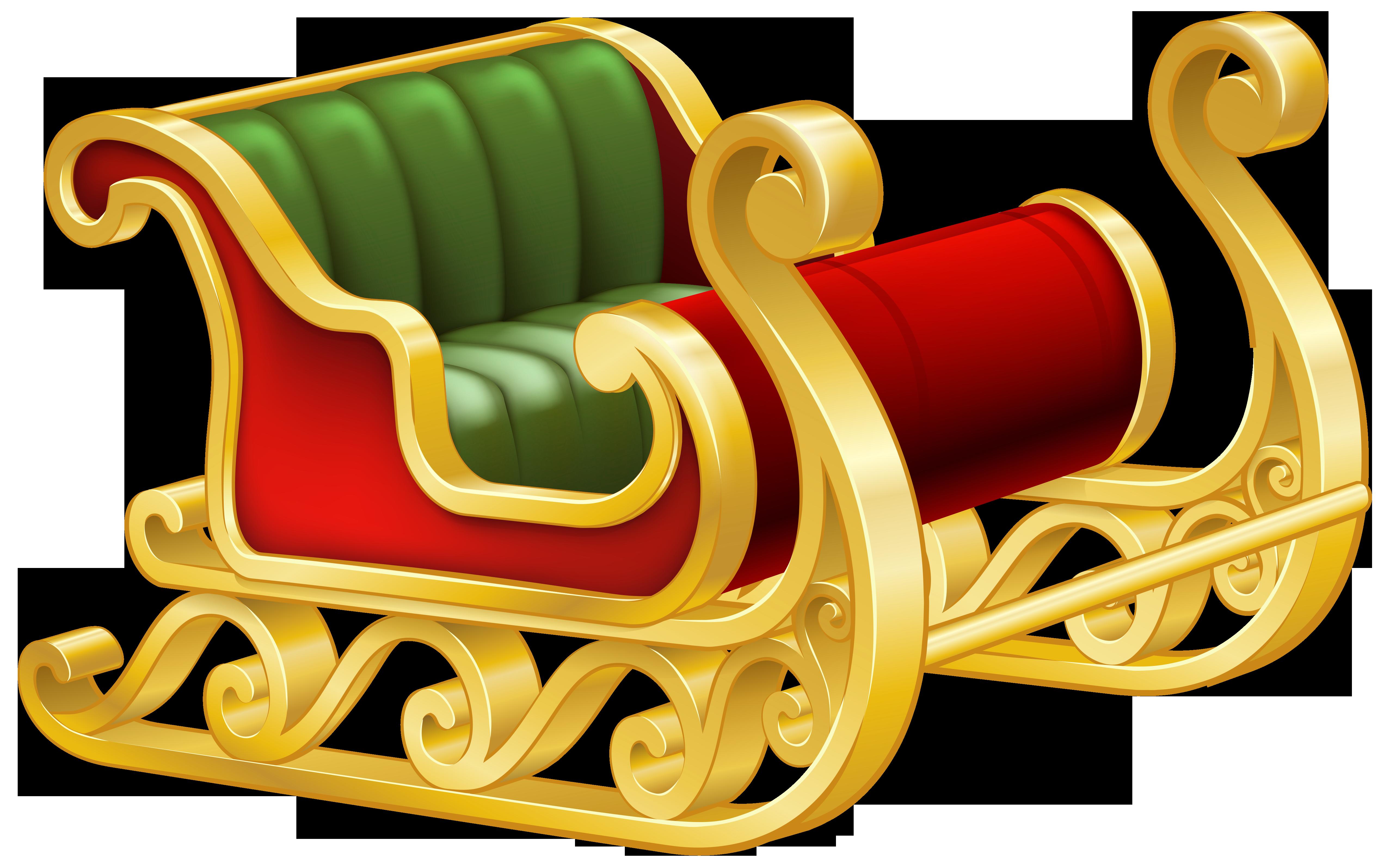 Santa png clip art. Sleigh clipart