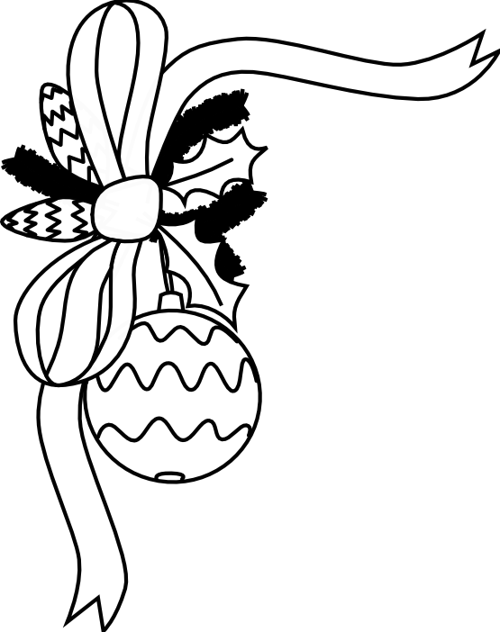 Milk clipart black and white. Clip art christmas decoration
