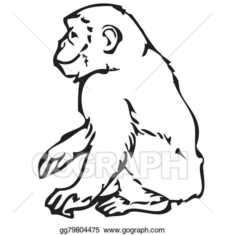Christmas clipart symbol. Drawing monkey new year