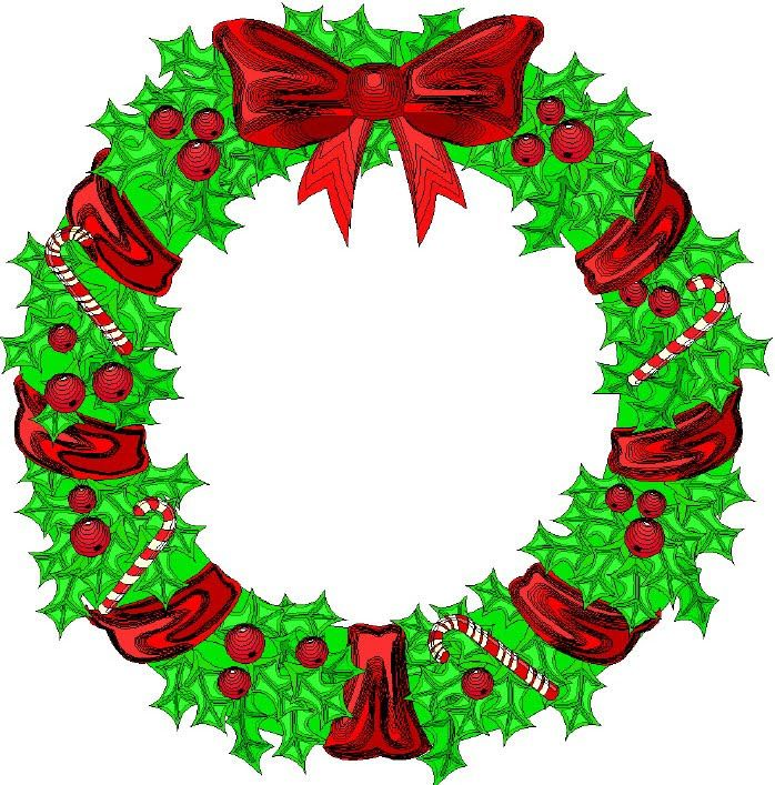 best illustrations candle. Christmas clipart wreath