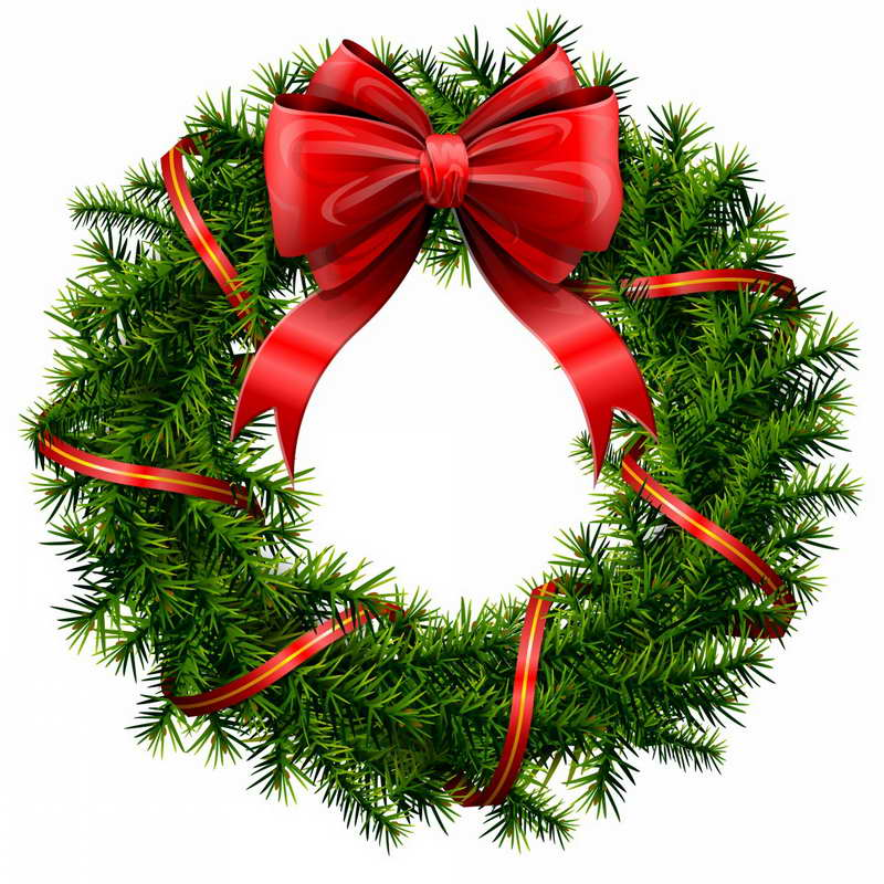Christmas clipart wreath. Free cliparts download clip