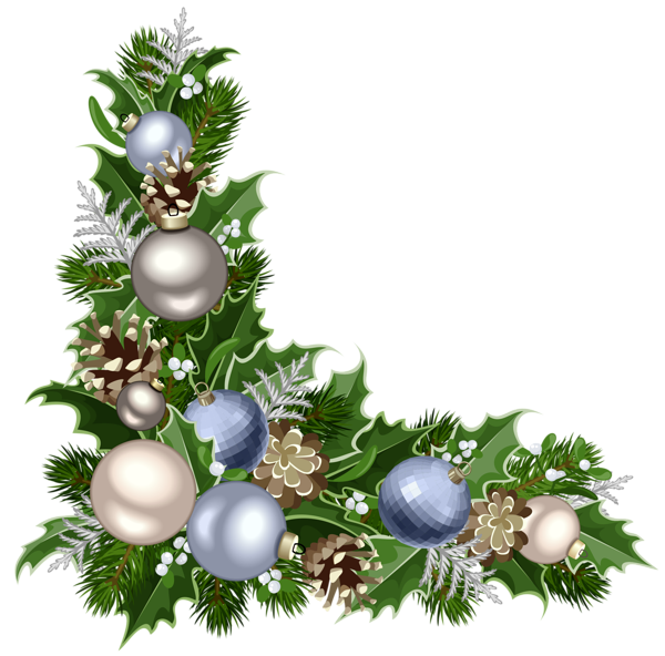 Christmas corner border png. Deco with decorations picture
