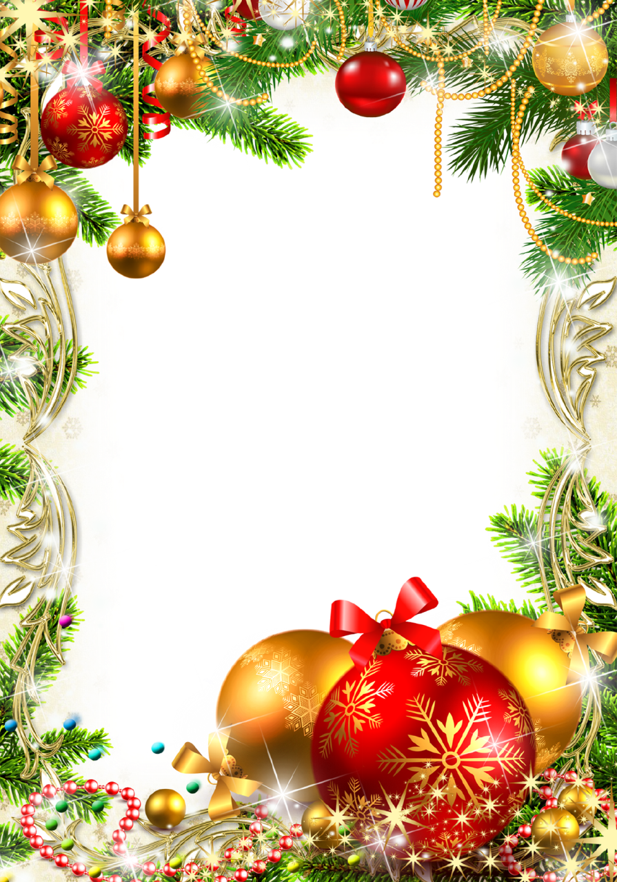 Transparent images photo. Christmas frame png
