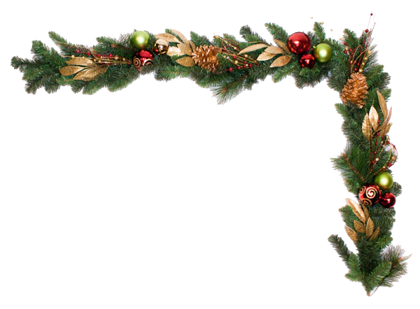 pine for free. Christmas garland border png