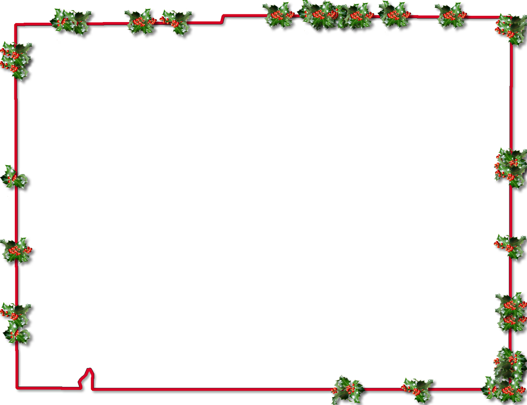 Desoto fancy frame style. Christmas holly border png