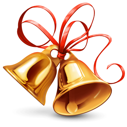Bell transparent stickpng. Christmas images png
