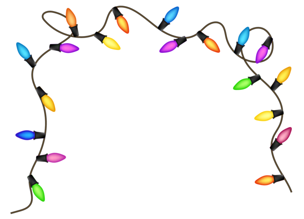 Christmas lights frame png. Clipart image gallery yopriceville