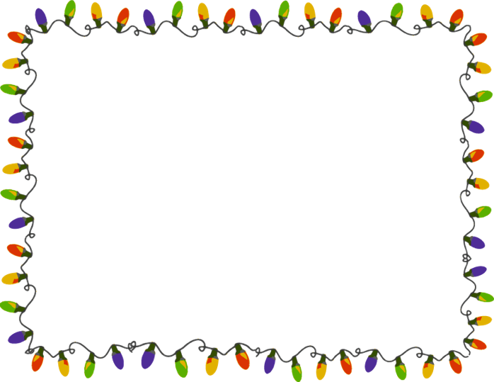 Christmas lights frame png. Images our green letter