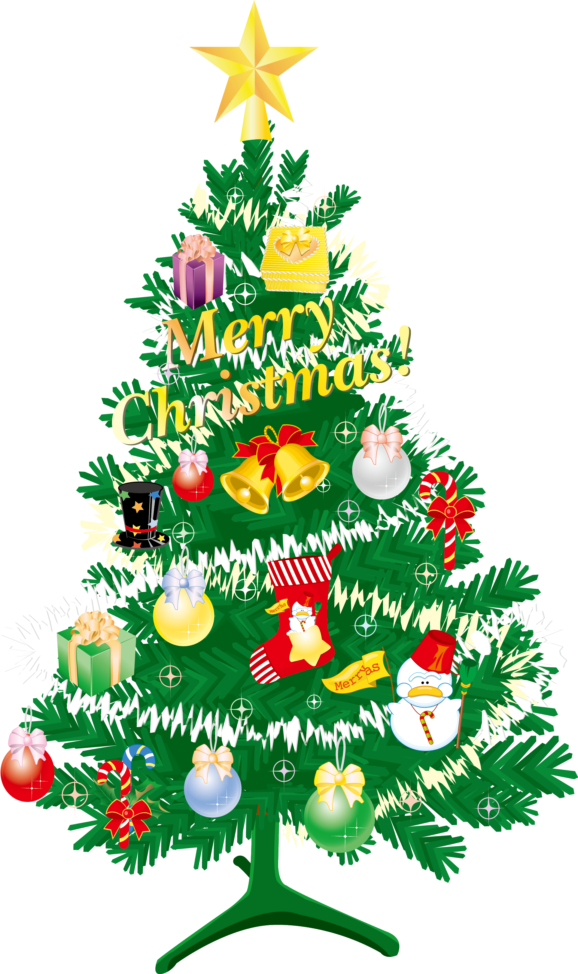 Christmas tree vector png. Gift santa claus transprent