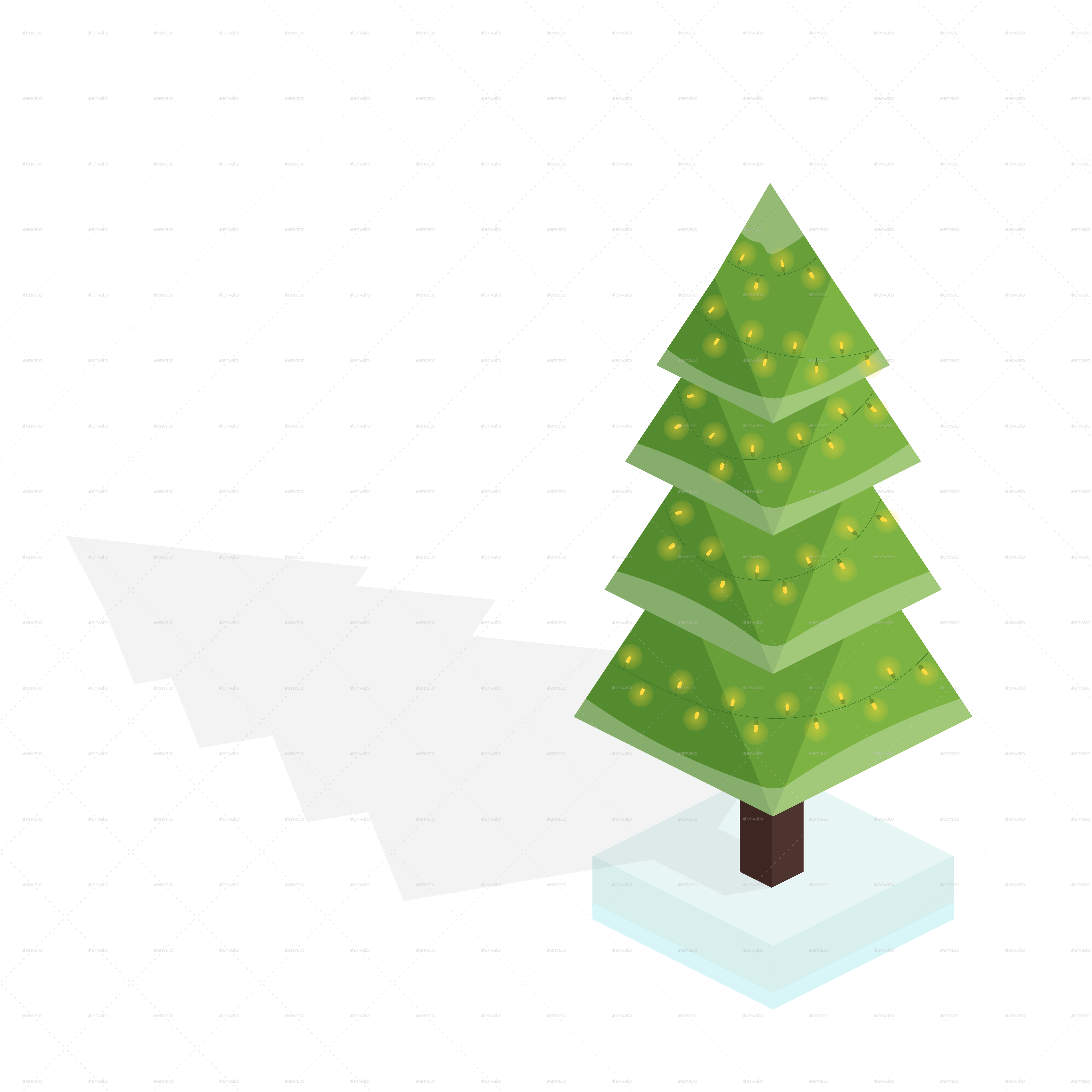 Isometric by bohdan bevz. Christmas tree vector png