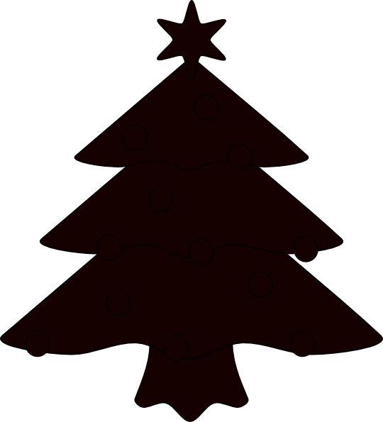 Christmas tree vector png. Sillhouette clip art at