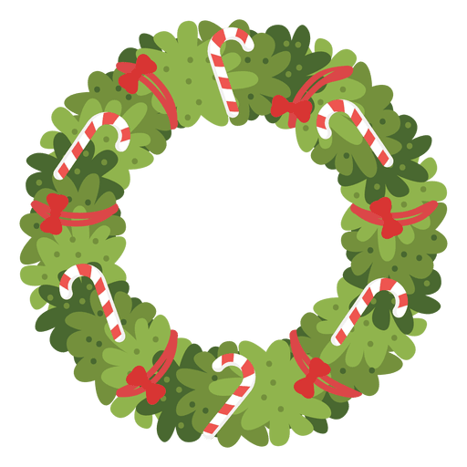 Christmas wreath vector png. Candy canes red bows