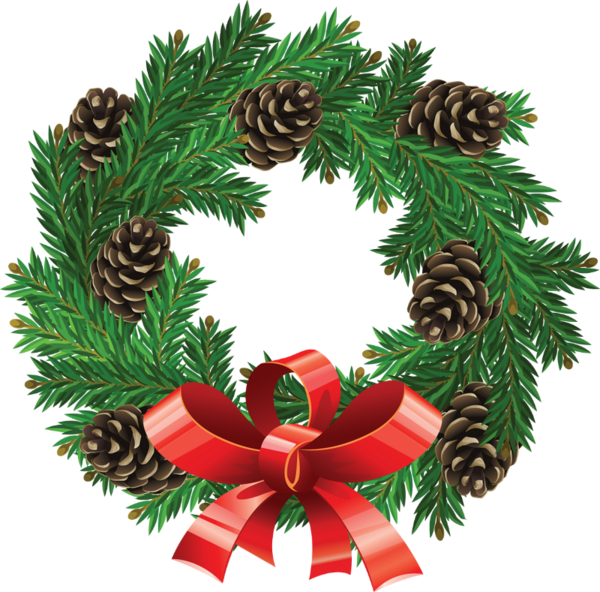 Art real clipart and. Christmas wreath vector png