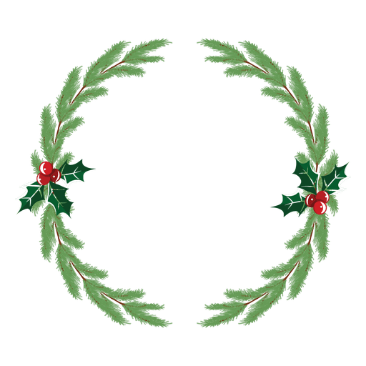 Icon transparent svg. Christmas wreath vector png