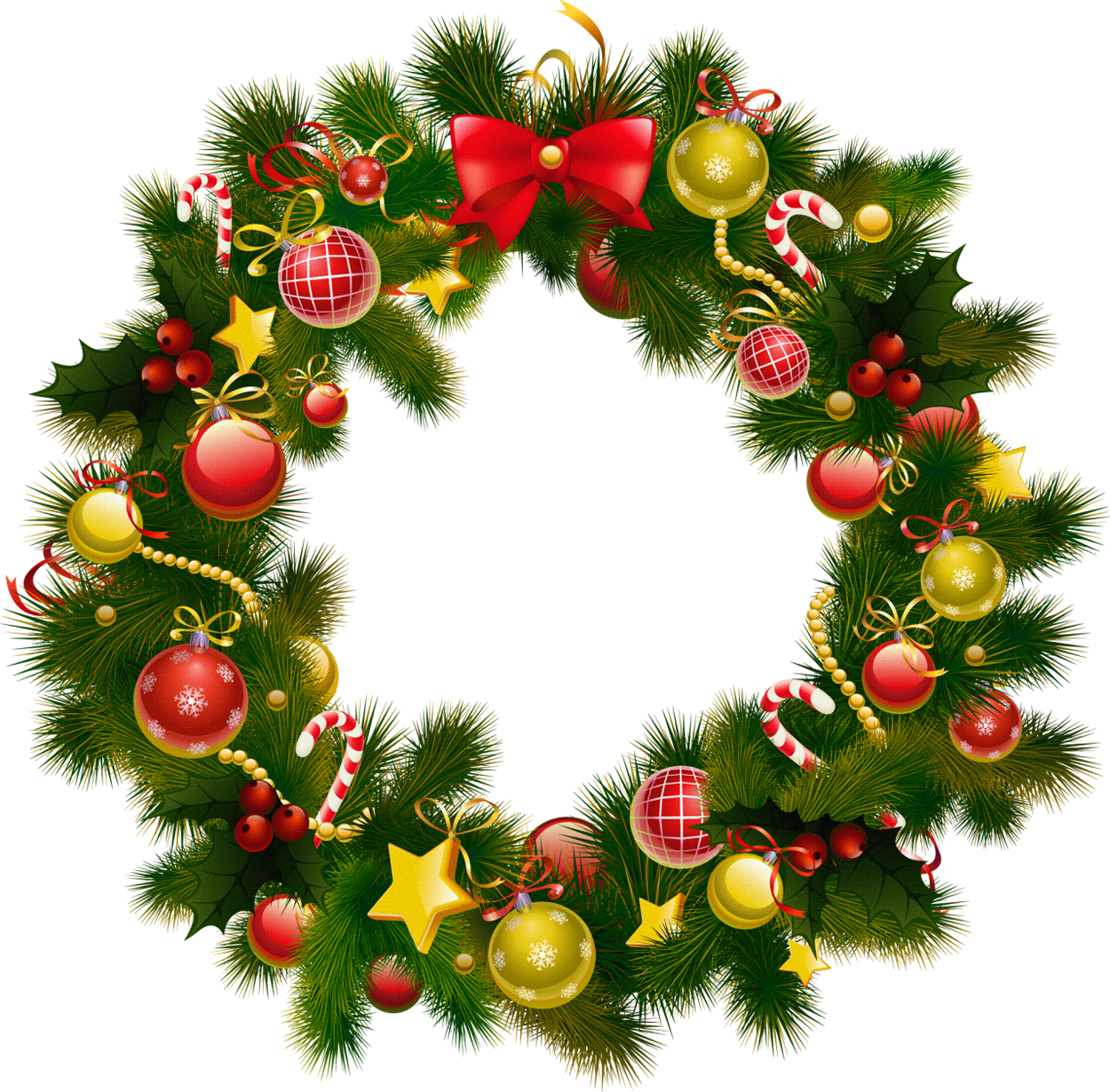 Photo frame clipart background. Christmas wreath vector png