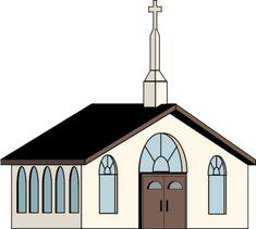 Vector european house buscar. Church clipart