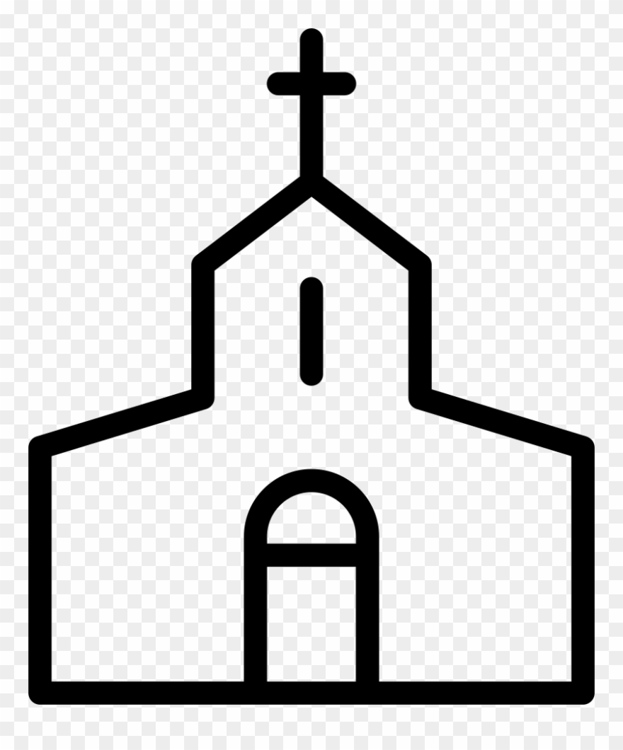 Mission church black and. Missions clipart religion