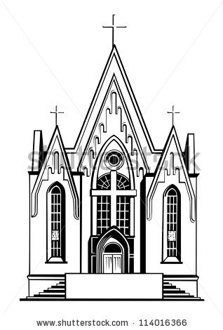 collection of black. Church clipart catholic church