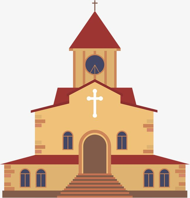 Coffee cartoon cathedral texture. Church clipart catholicism