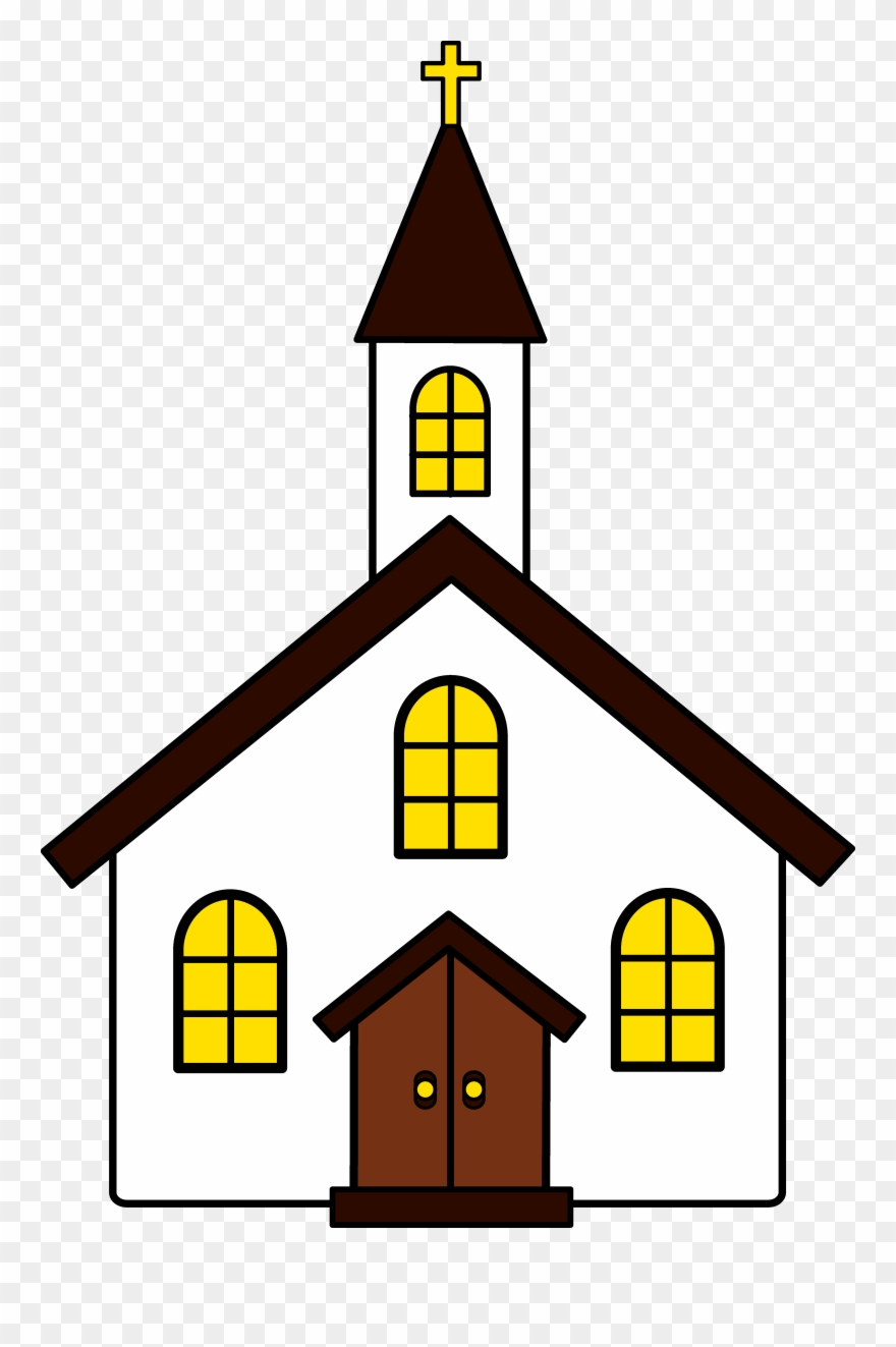 Church clipart clip art. Black and white png