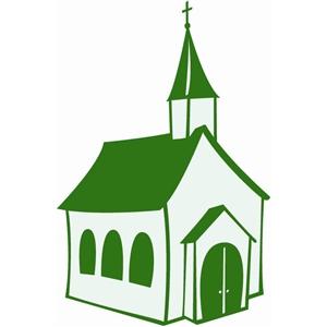 Silhouette design store view. Church clipart country church