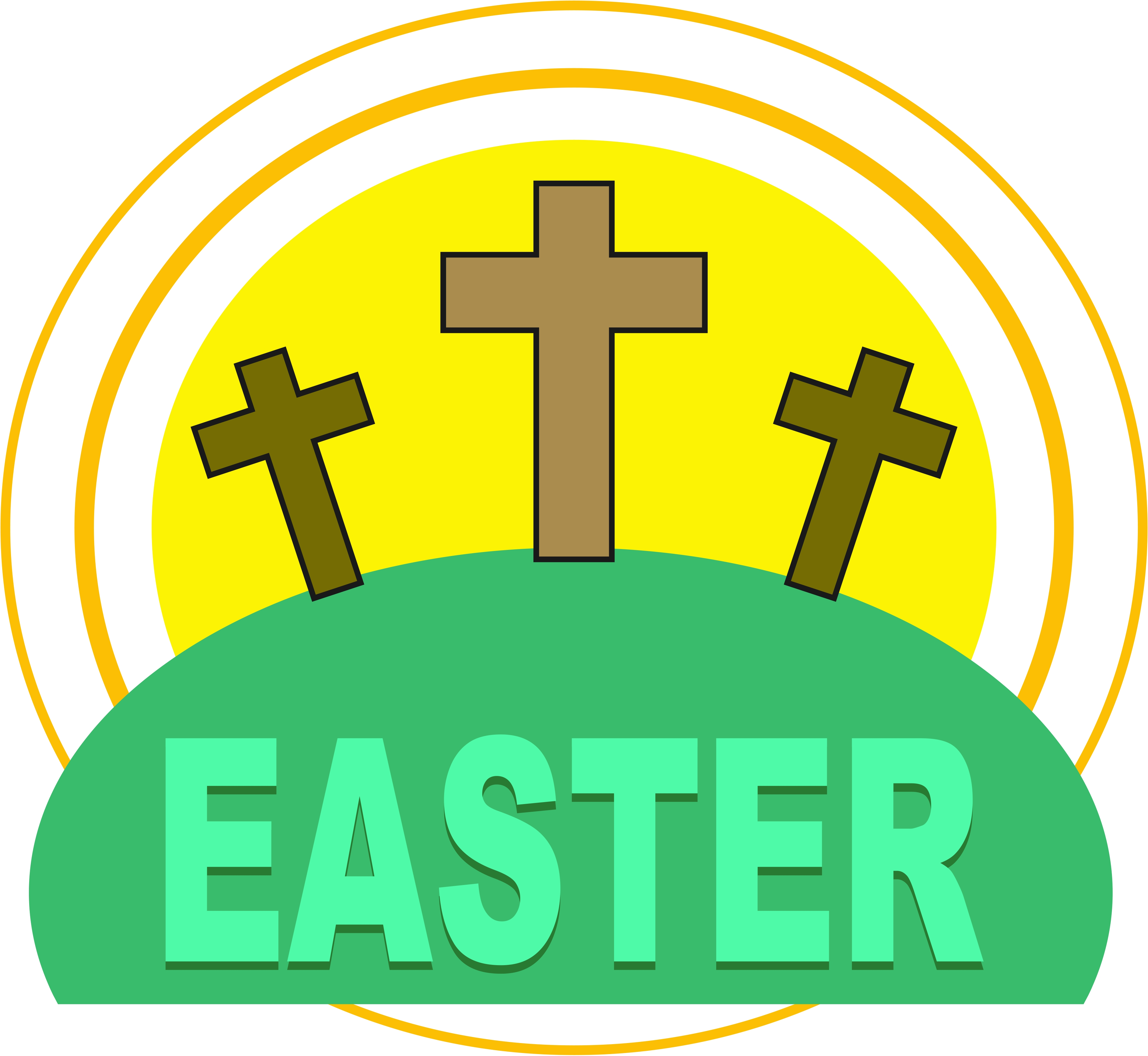 Empty tomb clipart cross. Free church easter cliparts