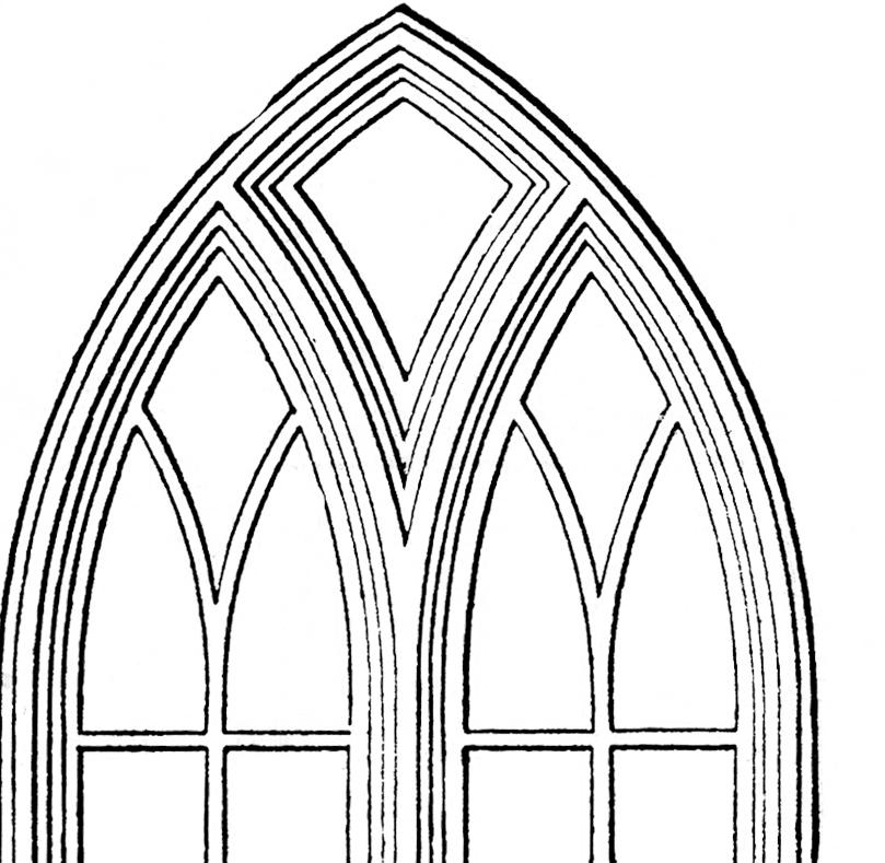 Windows clip art the. Church clipart gothic church