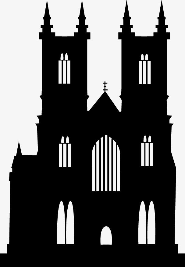 Catholic png images vectors. Church clipart gothic church