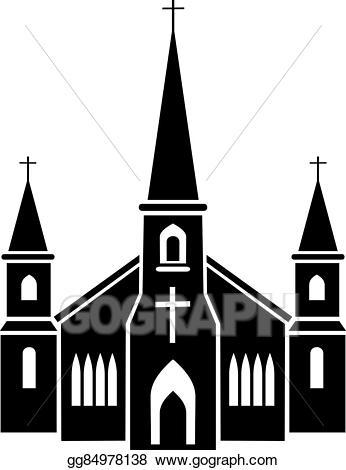 Eps illustration vector gg. Church clipart gothic church