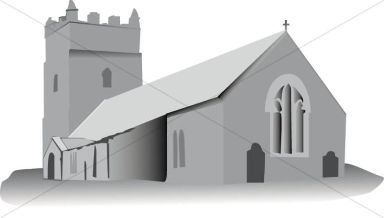 Church clipart medieval church.