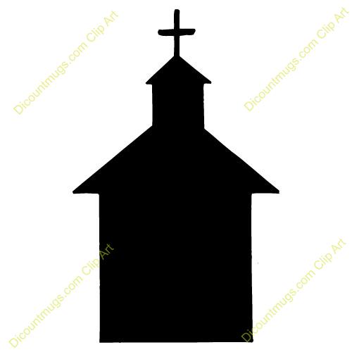 Catholic clipart silhouette. Church