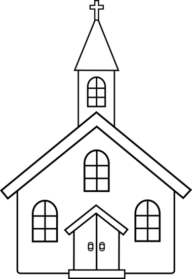 Religious pencil and in. Church clipart simple