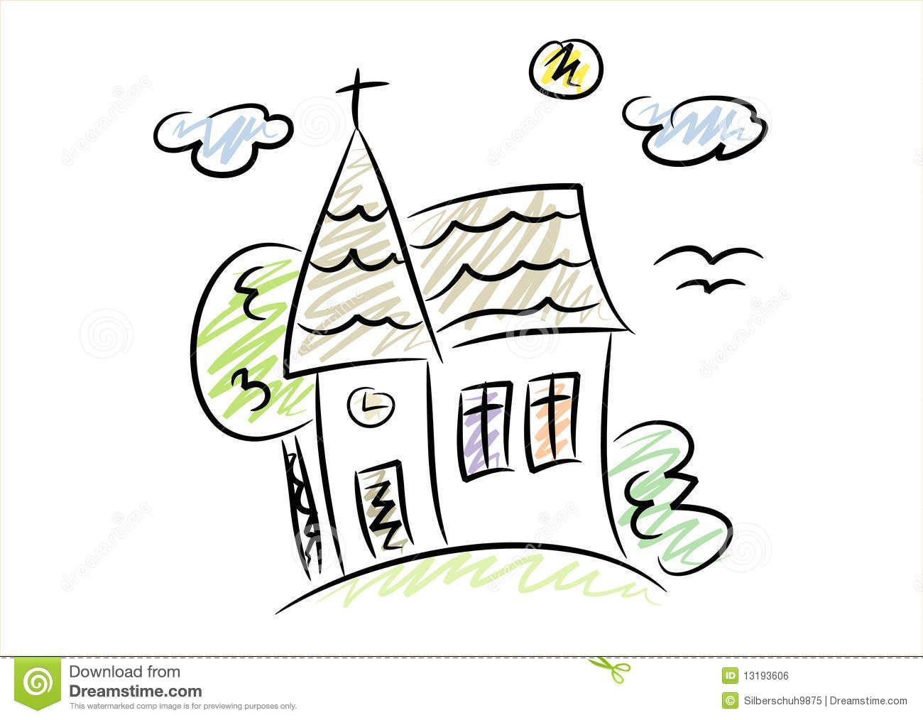 Cartoon drawing at getdrawings. Church clipart simple