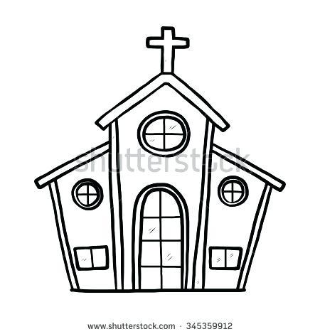 Drawing at getdrawings com. Church clipart simple