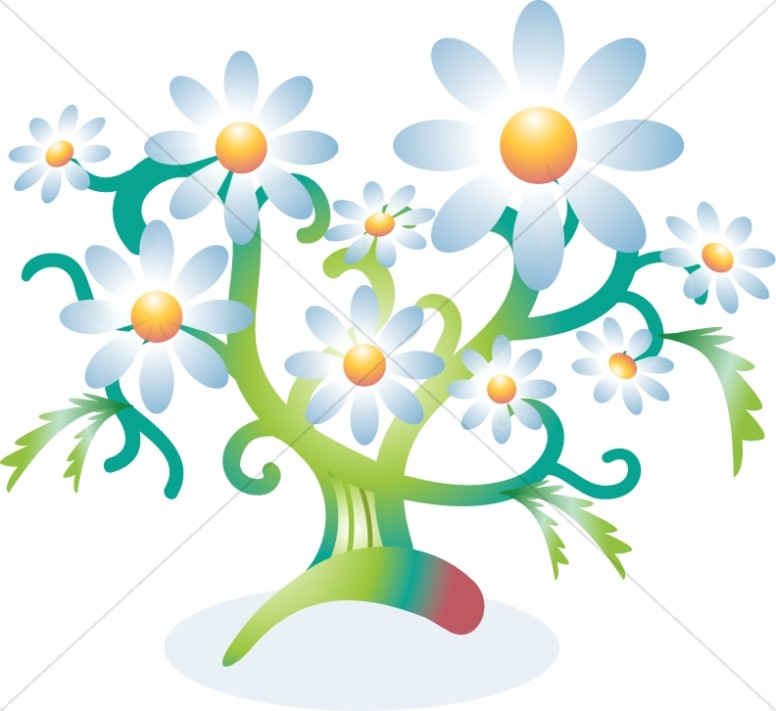 Flower tree. Clipart church spring