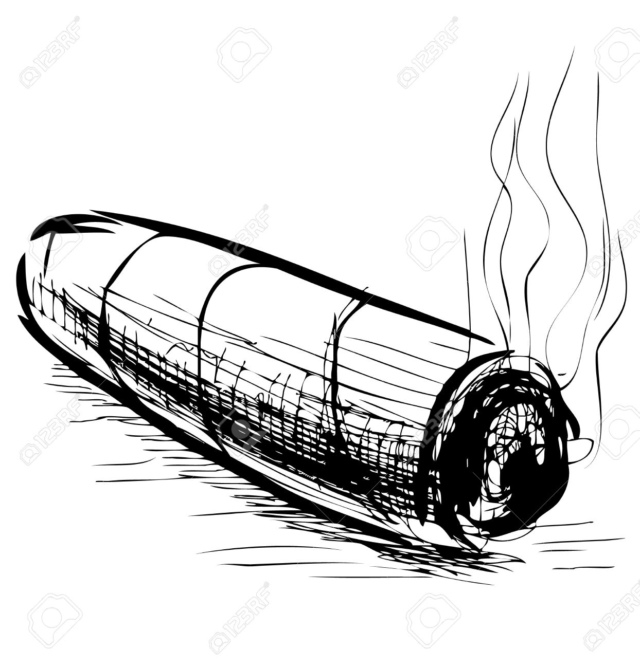 Cigar clipart black and white. Station