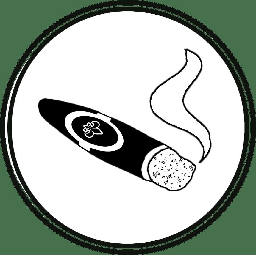 Smoking room oddfish games. Cigar clipart bourbon glass